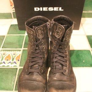 Diesel Shoes - DIESEL Men's Basket Butch Zip Boots | Size 8